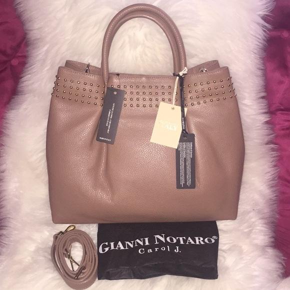 786ff63fbd 💞👜Gianni Notaro leather studded satchel👜💞